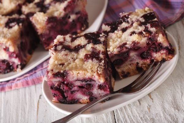 Healthy Blueberry Coffee Cake Dessert Recipe